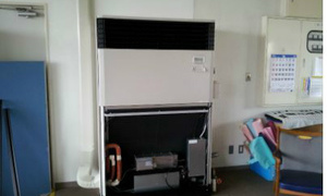 介護施設で業務用エアコン取付完了!迅速・丁寧!京都の業務用エアコン工事のプロです!