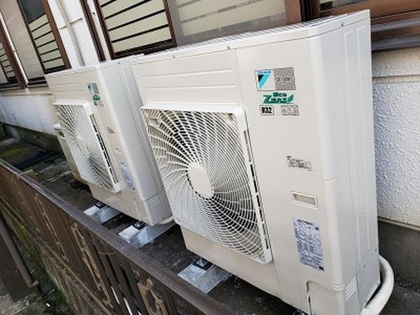 5馬力の業務用エアコン室外機!京都・滋賀の業務用エアコンならデヴァシオン!