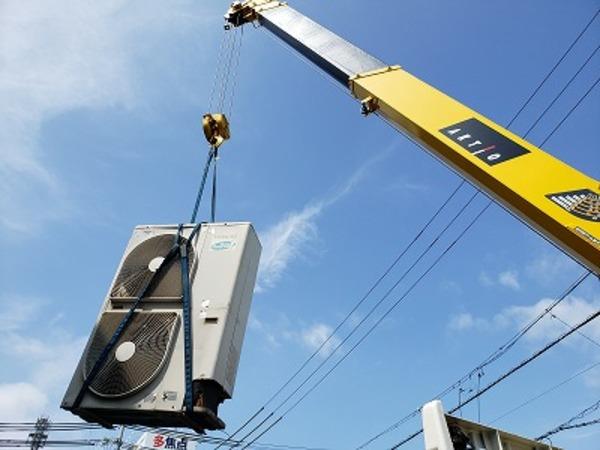 滋賀で業務エアコン室外機入替工事!格安!激安!業務用エアコン工事のプロです!
