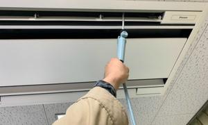 事務所用エアコンの通水テスト!業務用エアコンはお任せ下さい!