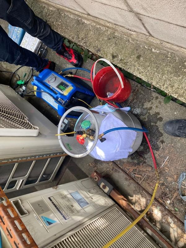 滋賀でエアコンのフロンガス回収工事!フロン漏洩点検もお任せ下さい!