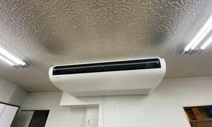 京都で業務用エアコン天吊タイプ更新工事!京都・滋賀拠点!エアコンマイスターは空調設備のプロです